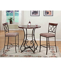 Powell® 3-pc. Hamilton Pub Table and Bar Stool Set
