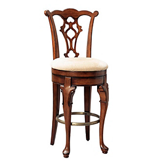 Powell� Jamestown Landing Deep Cherry Swivel Armless Bar Stool