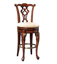 Powell® Jamestown Landing Deep Cherry Swivel Armless Bar Stool