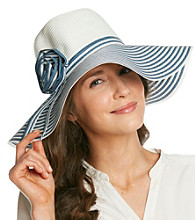 August Accessories® Bright Stripe Floppy Hat