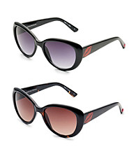 Betsey Johnson® Cat Eye Sealed with a Kiss Sunglasses