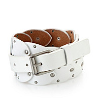 Calvin Klein Jeans® White Embellished Panel Belt