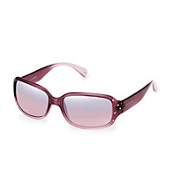 Steve Madden Purple Rhinestone Rectangle Sunglasses