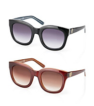 Vince Camuto™ Oversized Retro Cat Eye Crest Logo Sunglasses
