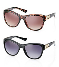 Vince Camuto™ Metal Logo Updated Cat Eye Sunglasses