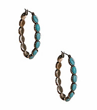 Lucky Brand® Turquoise Hoop Earrings