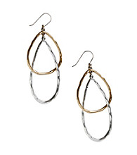 Lucky Brand® Two Tone Hoop Earrings