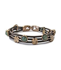 Lucky Brand® Goldtone and Leather Bracelet