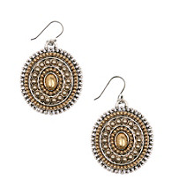Lucky Brand® Two Tone Drop Earrings