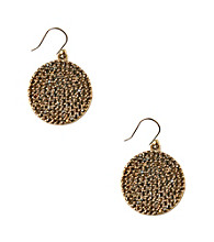 Lucky Brand® Goldtone Pave Earrings