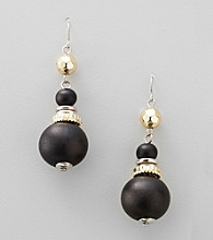 Laura Ashley® Two Tone Drop Beaded Earrings