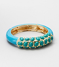 Relativity® Blue Stretch Enamel Bracelet