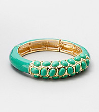 Relativity® Green Stretch Enamel Bracelet
