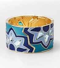 Relativity® Blue/Green Stretch Enamel Cuff