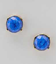 Relativity® Royal Button Earrings