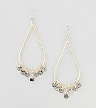 Relativity® Goldtone/Hematite Teardrop Earrings