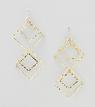 Relativity® Goldtone Double Drop Earrings