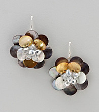 Studio Works® Silvertone Shell Drop Earrings