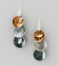 Studio Works® Silvertone Shell Dangle Drop Earrings