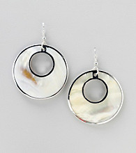 Studio Works® Silvertone Drop Hoop Earrings