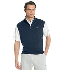 Callaway® Men's Peacoat Quarter-Zip Sweater Vest