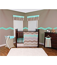 Cocoa Mint Baby Bedding Collection by Trend Lab