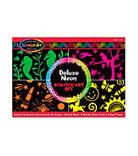 Melissa & Doug® Deluxe Neon Scratch Art Set