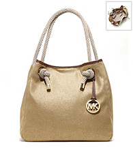 MICHAEL Michael Kors® Marina Large Metallic Canvas Grab Bag