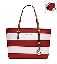MICHAEL Michael Kors® Striped Jet Set Small Travel Tote