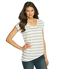 DKNY JEANS® Asymmetrical Striped Tee