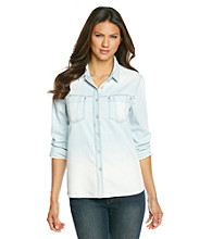 DKNY JEANS® Dip-Dye Denim Shirt
