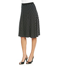 Rafaella® Polka Dot Skirt
