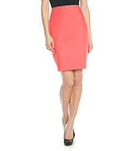 Rafaella® Double Weave Pencil Skirt