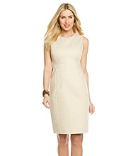 Anne Klein® Sleeveless Crewneck Seamed Dress