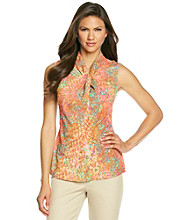 Anne Klein® Abstract Snakeskin Sleeveless Blouse