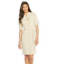 Calvin Klein Elbow Sleeve Henley Dress