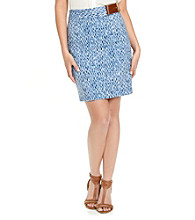 MICHAEL Michael Kors® Wave Print Pencil Skirt