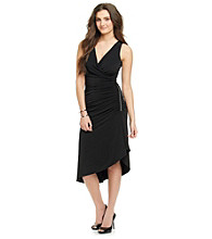 MICHAEL Michael Kors® Sleeveless V-Neck Side Chain Zip Asymetrical Dress