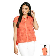 Skye's The Limit® Lace Woven Shirt