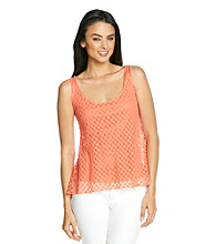 Skye's The Limit® Layer Woven Knit Top