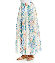 NY Collection Printed Maxi Skirt