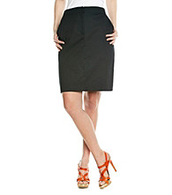 NY Collection Solid Sateen Skirt