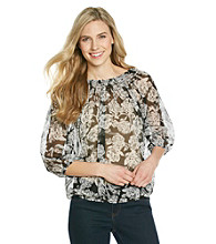 Relativity® Career Peasant Blouse