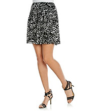 Relativity® Career Petites' Printed Skirt