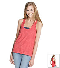 Mambo® Juniors' Lace Racerback Tank Top