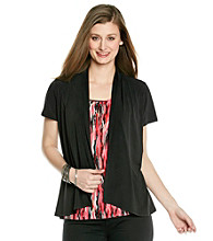 Notations® Layered-Look Top