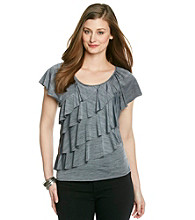 Notations® Ruffled Scoopneck Top