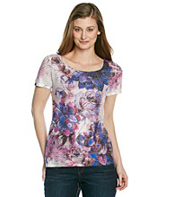Notations® Allover Print Sublimation Scoopneck Shirt