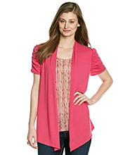 Notations® Ruched Layered-Look Top