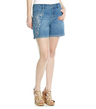 Gloria Vanderbilt® Embroidered Denim Short